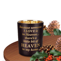 Glass Votive Lightholders with Gold Effect - Black