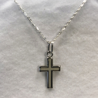 Matt Inner Cross Necklace