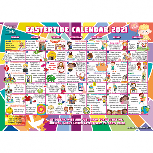 Walk with Me - Easter Calendars