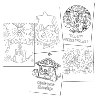 Christmas Colouring Cards