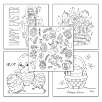 Easter Colouring Cards