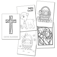 Kids Easter Colouring Cards