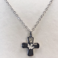 Dove Silver Plated Cross Necklace