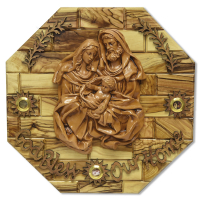 Holy Family Octagonal Plaque