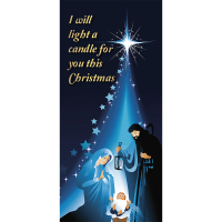 I will light a candle for you this Christmas Card