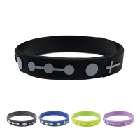 Single Decade Rubber Rosary Bracelet - Black