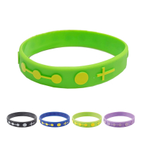 Single Decade Rubber Rosary Bracelet - Green