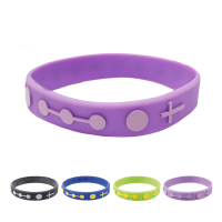 Single Decade Rubber Rosary Bracelet - Purple