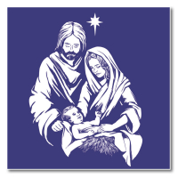 Nativity Square Lapel Badge