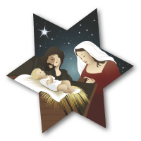 Star Nativity Badge