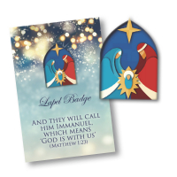 Window Nativity Lapel Badge