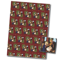 Christmas Wrapping Paper, Nativity Scene